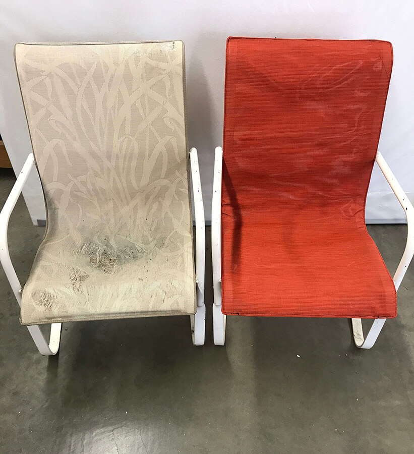 an image of before and after of a chair!