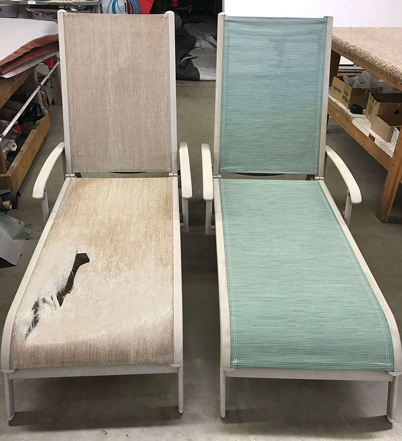 an image of another set of chairs before and after!