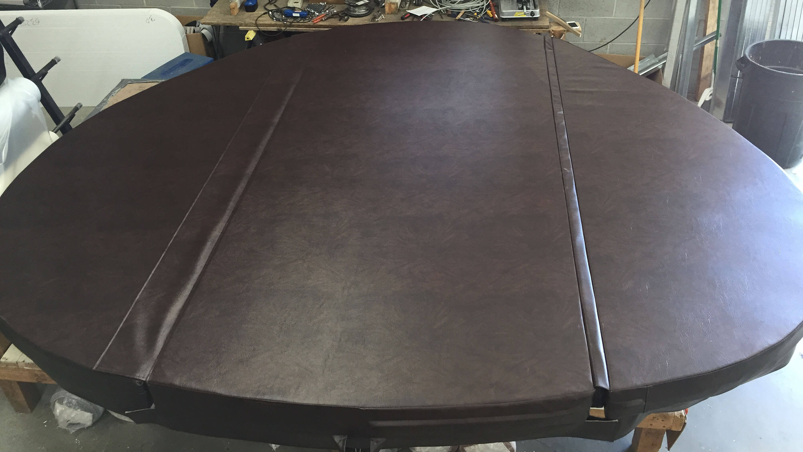An Image of a spa cover after Cot Spa Covers came and fixed it up